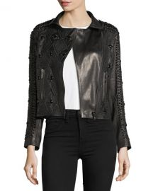 Saturday Studded Leather Jacket at Neiman Marcus