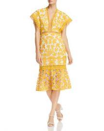 Saylor Floral Crochet-Lace Midi Dress Women - Bloomingdale s at Bloomingdales