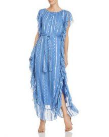 Saylor Ruffled Metallic-Print Maxi Dress Women - Bloomingdale s at Bloomingdales