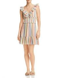 Saylor Sleeveless Rainbow-Stripe Smocked Gauze Dress Women - Bloomingdale s at Bloomingdales