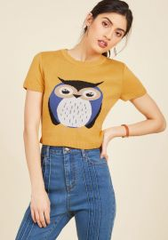 Says Hoot Sweater at ModCloth