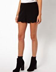 Scallop Hem Shorts at Asos