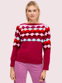 Scallop Intarsia Sweater by Kate Spade at Kate Spade