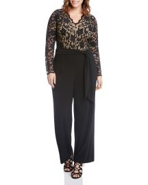 Scalloped Lace Palazzo Jumpsuit at Bloomingdales