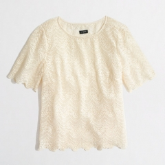 Scalloped Lace Top at J. Crew Factory