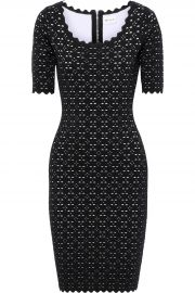 Scalloped Laser-Cut Ponte Dress by Milly at The Outnet