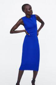 Scalloped knit dress at Zara