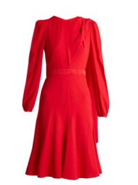 Scarf-neck crepe dress at Matches