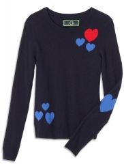 Scattered Hearts Sweater at C Wonder