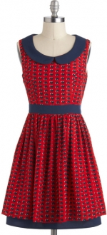 Scene of hearts dress at Modcloth