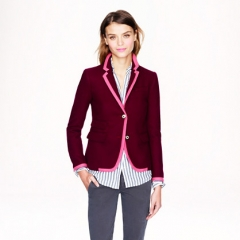 Schoolboy Blazer in Tipped Wool at J. Crew