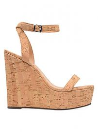 Schutz - Eduarda Suede Cork Wedges at Saks Fifth Avenue