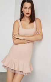 Scoop Neck Fluted Dress by Bcbgmaxazria at Bcbg