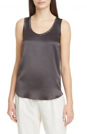 Scoop Neck Satin Tank at Nordstrom