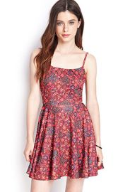 Scoop back printed dress at Forever 21
