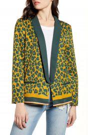 Scotch  amp  Soda Leopard Print Pajama Blazer   Nordstrom at Nordstrom