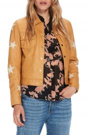 Scotch  amp  Soda Sheepskin Leather Shirt Jacket at Nordstrom