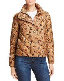 Scotch  amp  Soda Star Print Cropped Puffer Jacket Women - Bloomingdale s at Bloomingdales