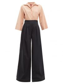 Scoti two-tone cotton-blend poplin jumpsuit at Matches