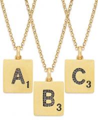 Scrabble letter necklace at Macys