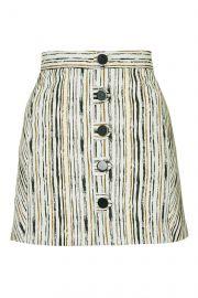 Scratch stripe skirt at Topshop