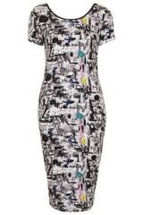 Scribble News Midi Dress at Topshop
