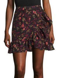 Scripted - Faux Wrap Ruffle Mini Skirt at Saks Fifth Avenue