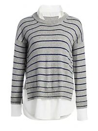 Scripted - Wide Stripe Crewneck Sweater at Saks Fifth Avenue