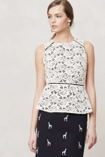 Scrolling lace peplum blouse at Anthropologie