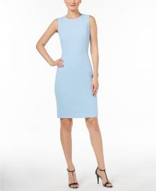 Scuba Crepe Sheath Dress by Calvin Klein at Macys