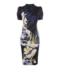 Sculpting Floral Pencil Dress at Karen Millen