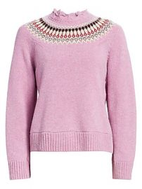 Sea - Brie Fair Isle Sweater at Saks Fifth Avenue