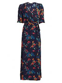 Sea - Mari Floral Wrap Maxi Dress at Saks Fifth Avenue