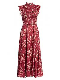 Sea - Monet Smocked Floral Maxi Dress at Saks Fifth Avenue