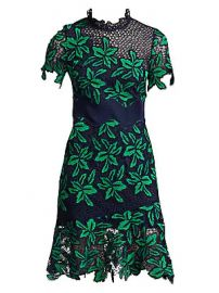 Sea - Mosaic Floral Crochet Dress at Saks Fifth Avenue