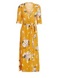 Sea - Pia Floral Wrap Dress at Saks Fifth Avenue