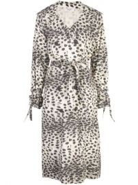 Sea Double Breasted Leopard Print Coat  - Farfetch at Farfetch