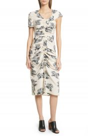 Sea Josephine Floral Print Ruched Dress at Nordstrom