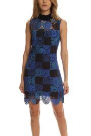 Sea Printed Lace Sleeveless Dress at Blue Cream
