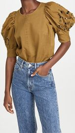 Sea Rue Embroidered Denim Short Sleeve Top at Shopbop