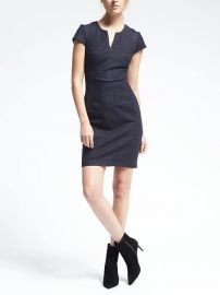 Seamed Denim Dress at Banana Republic