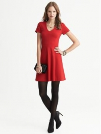 Seamed flare dress at Banana Republic