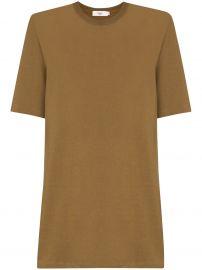 Sean padded shoulder T-shirt dress at Farfetch