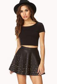 Secret Rebel Grommet Skater Skirt  Forever 21 - 2000112080 at Forever 21