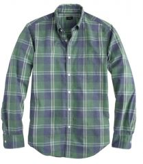 Secret Wash Shirt in Nile Green at J. Crew