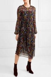 See by Chlo     Floral-print fil coup   silk-georgette midi dress at Net A Porter