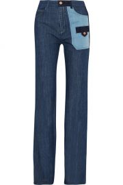 See by Chloe PATCHWORK DENIM   Neiman Marcus at Neiman Marcus