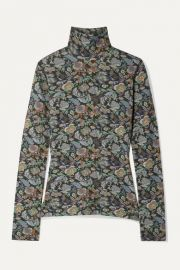 See By Chlo   - Floral-print stretch-jersey turtleneck top at Net A Porter