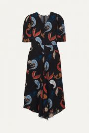 See By Chlo   - Paisley-print crepe midi dress at Net A Porter