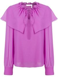 See By Chlo   Flouncy Neck Tie Blouse - Farfetch at Farfetch